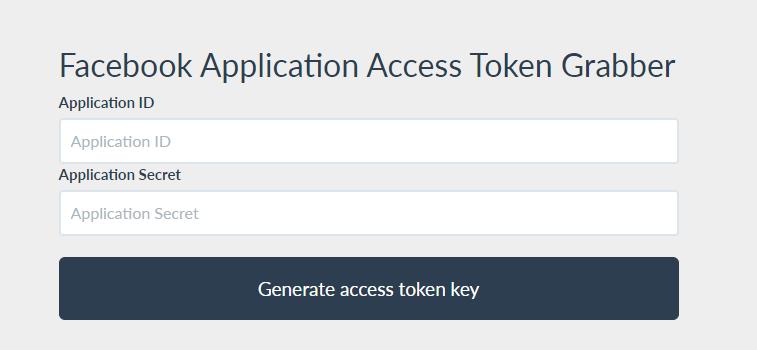 Facebook Access Token Generator